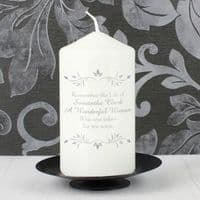 Personalised Sentiments Candle - P0409C99 - ideal for memorial, remembrance, Christmas keepsake gifts
